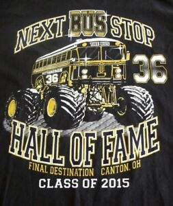 JEROME BETTIS # 36 STEELERS NFL 2015 HALL OF FAME XL BLACK T-SHIRT