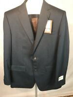 NWT HAGGAR TAYLORED FIT NAVY BLUE Blazer Jacket Suit Coat 42 LONG Retail $179.99