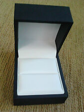LUXURY BLACK LIDDED RING GIFT BOX WITH WHITE RING PAD 6.3CM X 7CM X 4.5CM BNWOT
