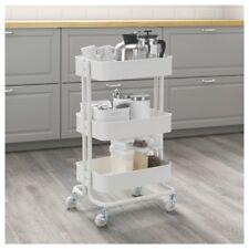 Ikea Raskog White Kitchen Trolley Island Storage Bathroom SHELVING Castors