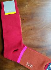 Paul Smith Mens English Socks MO Block Red Rust & Pink K204 1-Size Cotton Mix