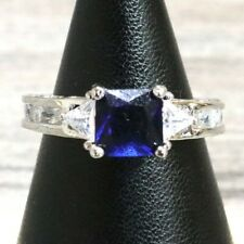 Vintage Antique Sapphire Ring Women Wedding Anniversary Engagement Jewelry Gift