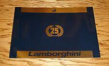 Original 1989 Lamborghini Countach 25th Anniversary Sales Brochure 89