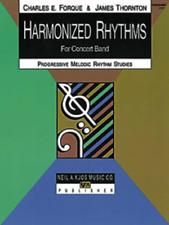 "Harmonized Rhythms FOR CONCERT BAND ""BARITONE SAXOPHONE"" MUSIC BOOK-NEW-SALE-SAX"