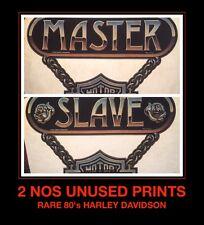 Master Slave CHAIN 1980's HD Harley Davidson Motorcycle vTg t-shirt iron-on LOT
