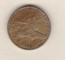 More details for 1858 usa flying eagle one cent in near very fine condition.
