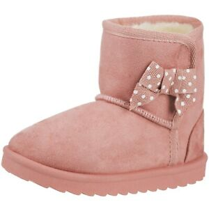 NEW Girls Kids Toddlers Winter Fur Boots Warm Slip-on Fashion Snow Boot with Bow