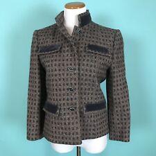 Vintage Nipon Coature Wool Blend And Velvet Jacket Size S