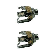 2 Fiches Jack 6,35 Stéréo Chassis  Connections à Souder