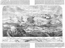 Guerra di Crimea Storia della difesa di Kars-antica stampa 1856