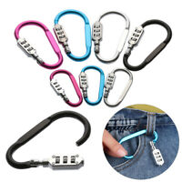 Code Travel Suitcase Luggage Case Padlock Alloy Lock Security Tool Carabiner
