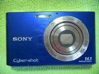 SONY CYBER-SHOT DSC-W330 14.1 MEGA PIXELS DIGITAL CAMERA BLUE