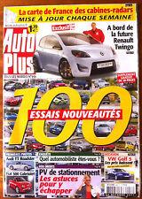 AUTO PLUS du 24/10/2006; 100 essais nouveautés/ Audi TT Roadster/ Fiat 500 Cabri