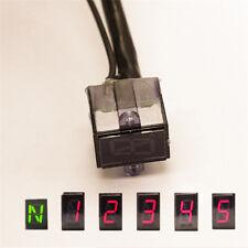 LED 5 Speed Digital Gear Indicator Motorcycle Shift Lever Gauge Waterproof N - 5