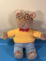 "Vintage 1996 Rare Arthur 14"" Plush With Red Pin Stripes PBS Marc Brown Eden Toys"