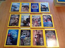 1984 National Geographic Magazine With Maps Complete Year 12 Issues