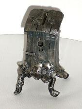 Seltene figürliche Jugendstil Spardose von WMF um 1900 aus  Britannia Metall