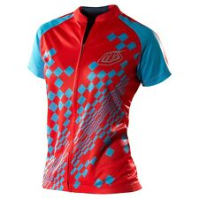 Troy Lee Designs Women's Bicycle Cycling Ace Jersey Red Blue Navy Medium MD
