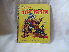 Donald Duck's Toy Train vintage Little Golden Book C edition 1950 Walt Disney