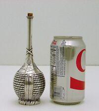 Durgin Sterling Silver Trompe L' Oeil Bitters Bottle Marked c1890 Livorno Vino