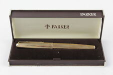 Vintage PARKER '65' Fountain Pen ROLLED GOLD CASING Boxed WRITING