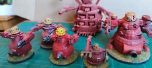 6mm Ork warbots Painted prototypes Red  Mek Slasher Great and Mega Gargants