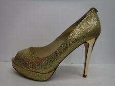 Michael Kors Size 8.5 Gold Glitter Heels New Womens Shoes