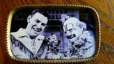 "HOWDY DOODY -BUFFALO BOB & CLARABELL ""Vintage""  Epoxy Photo  Belt Buckle New!"