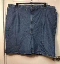 "Big Mens size 58 Wrangler Blue Jean Denim Carpenter Shorts  8 1/2""  inseam NWT"