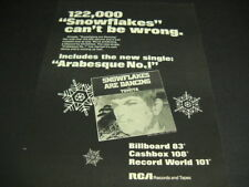 TOMITA 122 Thousand Snowflakes Can't Be Wrong original 1974 PROMO POSTER AD mint