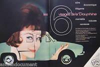 PUBLICITÉ 1958 RENAULT LES 6 VISAGES DE LA DAUPHINE - ADVERTISING