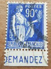"""Timbre France N°368a avec Bande Publicitaire """"compte courant """" Oblitéré"""