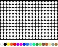 3600 Klebepunkte 5mm Kreise Weiß Punkt selbstklebend Aufkleber Inventur Folie