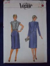 Vogue very easy pattern 7892 dress and jacket size 12 bust 34 waist 26.5 Hips 30
