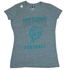 NFL Reebok Miami Dolphins Fins Women Ladies Pride Playing Tshirt DW2502 Large