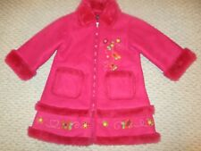 THE CHILDREN'S PLACE GIRL PRETTY PINK SUEDE FUR EMBELLISHED JACKET COAT 4T
