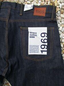 Gap blue Japanese selvedge denim straight leg jeans 36 30 nwt new