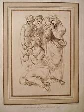RAFFAELLO,RYLAND,STUDIO PIETà,MADONNA,LAVIS,1764,GRANDE INCISIONE,STAMPA ANTICA