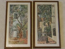 Carl Thorp  Print  PAIR of 2  Pirate's Alley  Framed Art