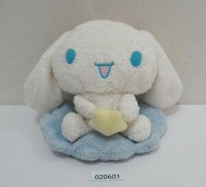 """Cinnamoroll 020601 Cinnamon Cloud Star Sanrio Smiles Beanie 5"""" Plush Doll Japan"""