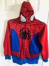 Boys Spiderman Hoodie - Marvel - Costume - Size Small - Red & Blue
