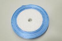 1 Rouleau RUBAN SATIN Bleu Ciel 6 mm Rouleau de 22m environ