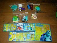 Ü Ei Monster Uni Komplettsatz Spielzeuge mit allen 7 BPZ