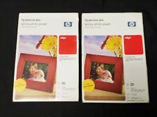 "HP Premium Plus 4"" X 6"" Inkjet Photo Paper 11.5 Mil 39 sheets 1 new pack, 1 open"