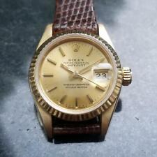 ROLEX 18k Gold Ladies Datejust 69178 President Auto. c.1990 Swiss Luxury LV697