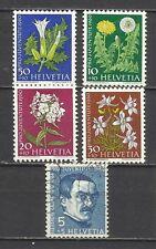 650-SERIE COMPLETA SUIZA 1960.Nº668/72. 8,50€ HELVETIA
