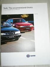 SAAB 900 & 9000 GAMMA BROCHURE 1995 USA mercato