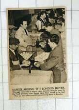 1920 Men Scrutinising Egg Quality Of Eggs Imported From Egypt