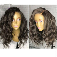 Brazilian Human Hair Short Body Wave Full Lace Wig Glueless 13X6 Lace Front Wigs