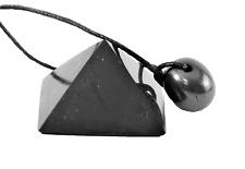 Shungite pyramid and shungite pendant protection stone set Russia chakra healing